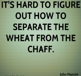 wheat chaff how to read journals 2